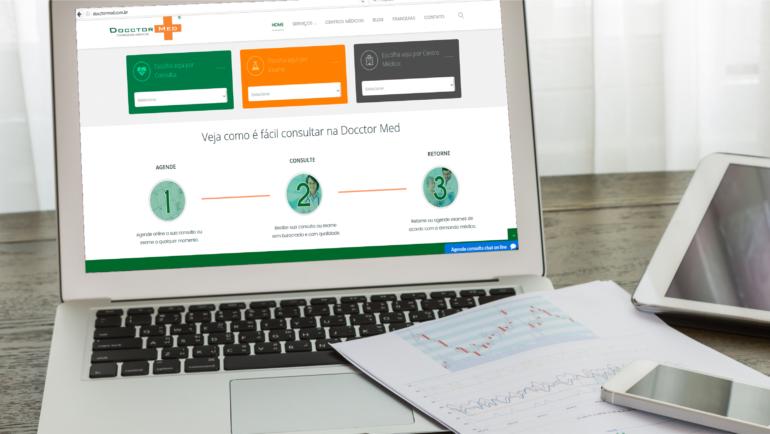 Novo Site Docctor Med: Agendamento de consultas e exames com facilidade, rapidez e eficiência