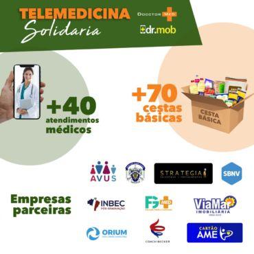 Campanha Telemedicina Solidária arrecada quase uma tonelada de alimentos
